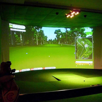 300*200CM/300*300CM Golf Ball Simulator Impact Display Projection Screen Indoor White Cloth Material Golf Exercise Golf Target F