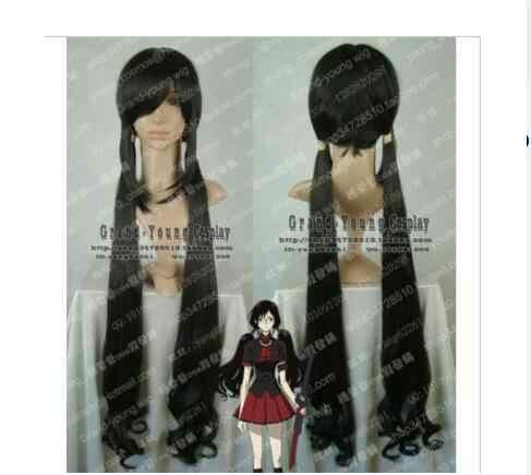 Suyushun30316HOT sprzedam + + + +>>> BLOOD-C Kisaragi Saya Cosplay długa czarna peruka z lokami powrót do szczegółów produktu