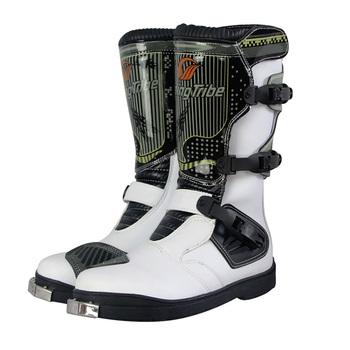 Profesjonalne męskie PRO BIKER buty motocyklowe wyścigi buty motocrossowe motocyklowe oddychające buty botas buty tanie i dobre opinie CN (pochodzenie) Poliestru i nylonu Połowy łydki Unisex