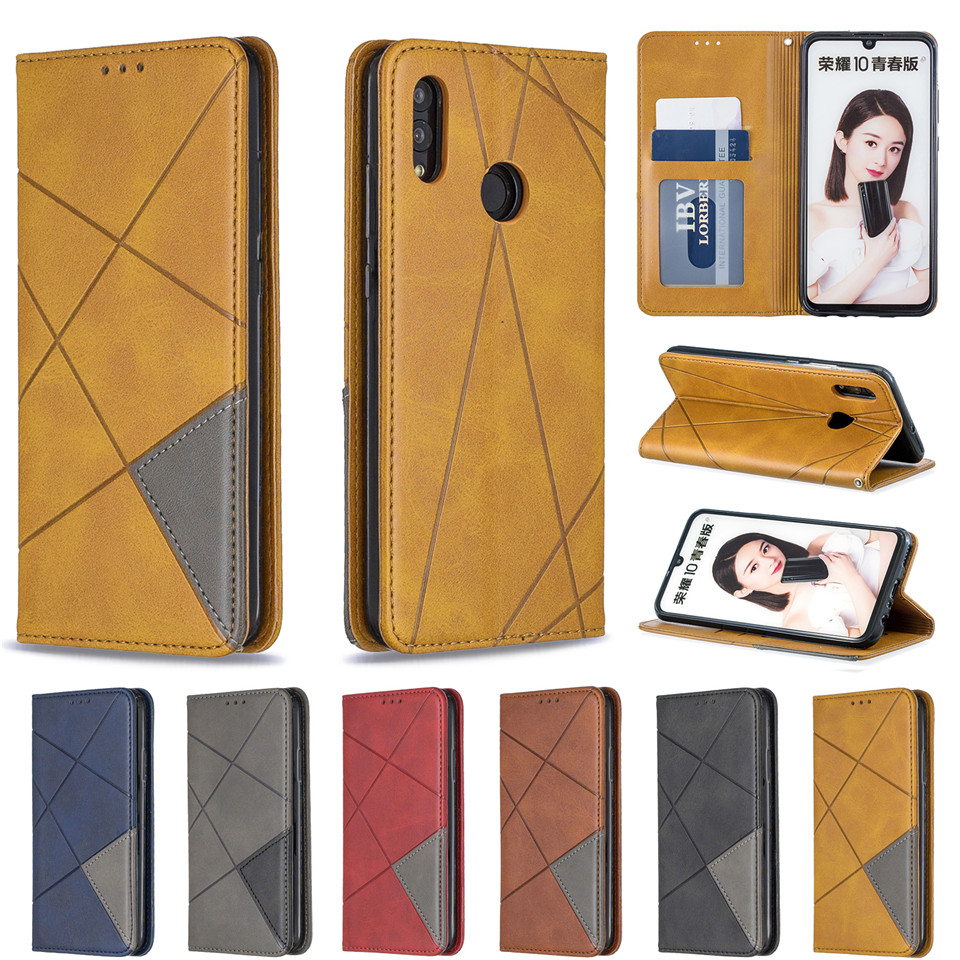 H5f87ebaa03184c72b02f0c3eddfdf3eeO For Huawei Honor 10 Lite Case Leather Wallet Flip Cover Soft Silicone Case for Honor 10i 9X 8A 8S Magnetic Case Card Holder