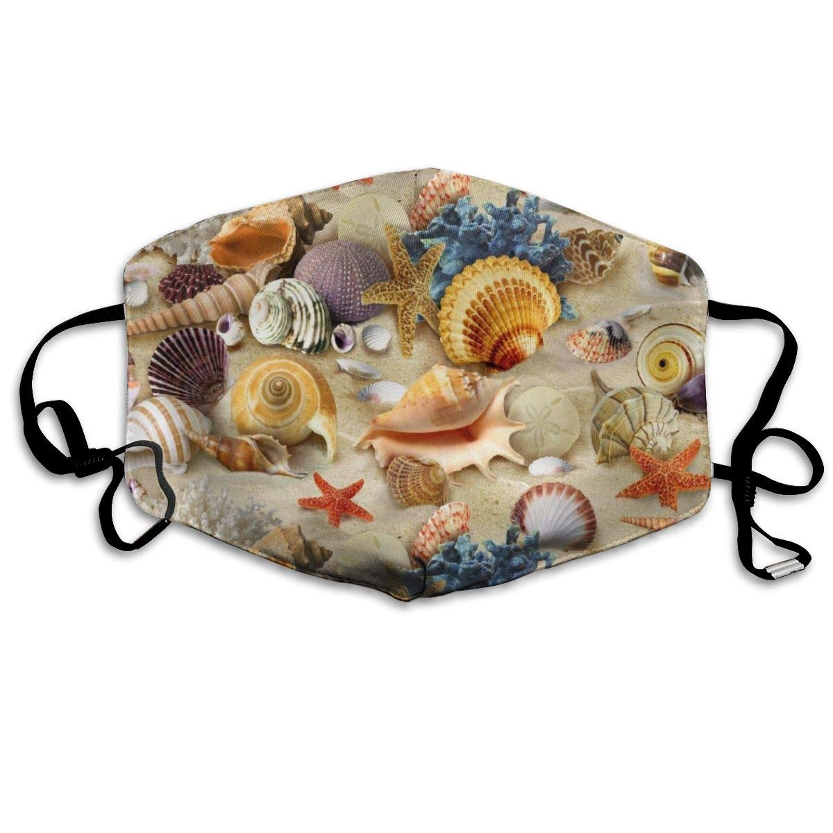 Mouth Mask For Daily Dress Up, Starfish Seashell Anti-dust Mouth-Muffle, Washable Reusable Holiday Half Face Masks For Mens And