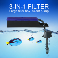 220V 240v Sunsun 3 in 1 Aquarium Filter Ultra Quiet Submersible Pump Tank Circulation Pump External Filter Box 6W 12W