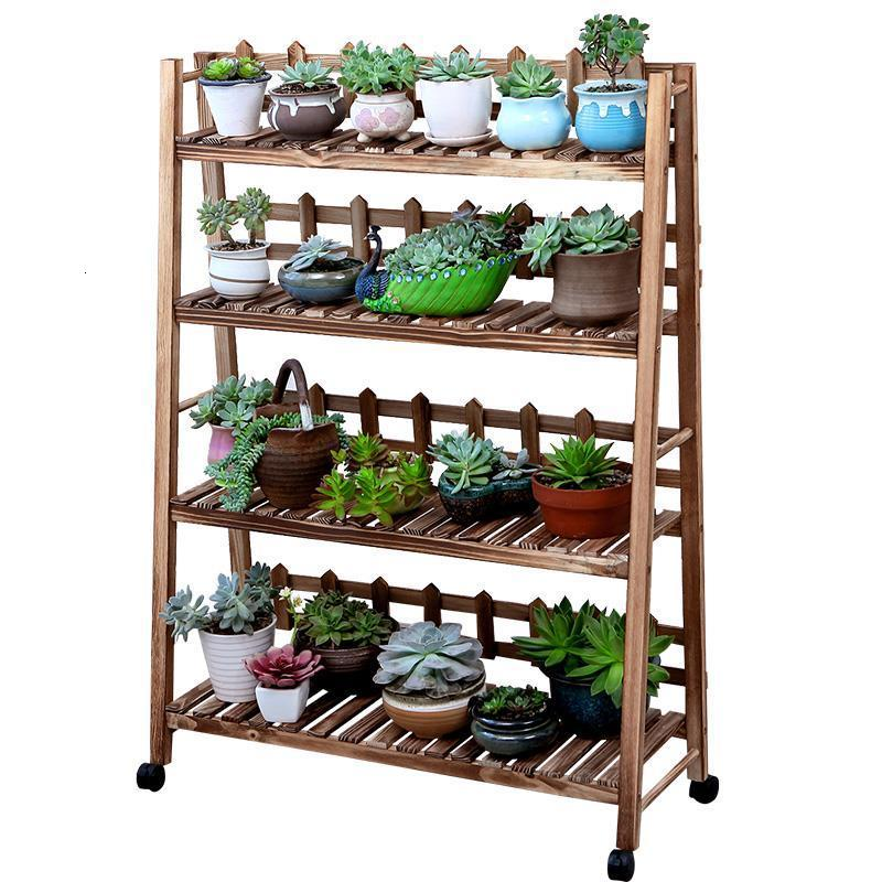 Flores Mueble Plantas Table Balkon Wood Indoor Stand Estanteria Para Macetas Rack Balcony Flower Stojak Na Kwiaty Plant Shelf