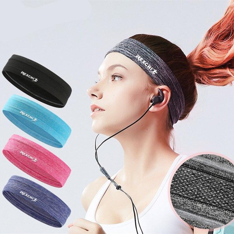 Women Men Sports Headbands Fitness Headband Elastic Men Hair Headbands Running Hair Accessories