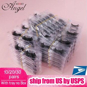 WOWANGEL Wholesale 10/20/30 Pairs 3D Mink Lashes Natural Eyelashes  False Make Up Silk In Bulk