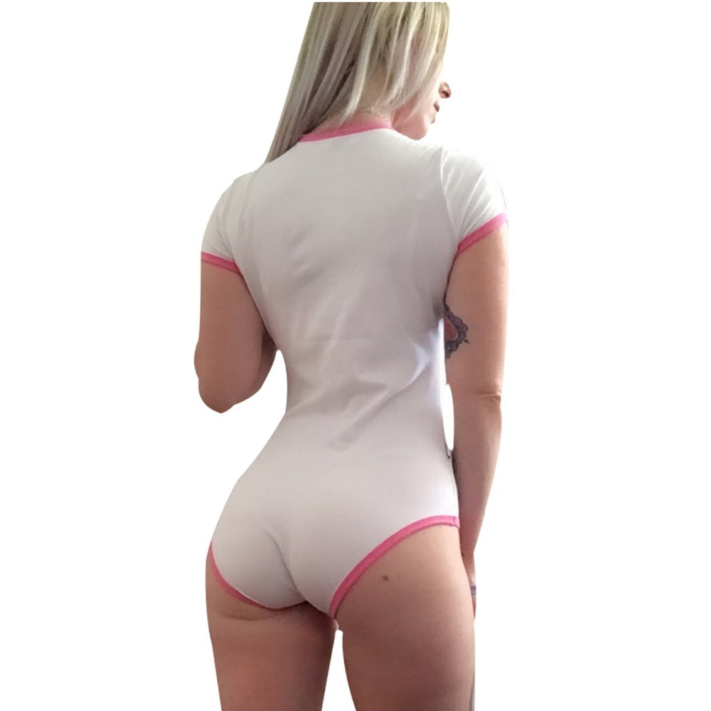 ABDL Onesie Diaper Lover Snap Crotch Romper Onesie Pajamas - I Love Daddy Pattern