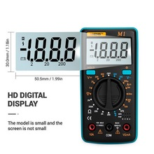 Urijk A830L портативный цифровой мультиметр с подсветкой AC/DC Амперметр Вольтметр Ом тестер Измеритель Ручной ЖК дисплей Multimetr