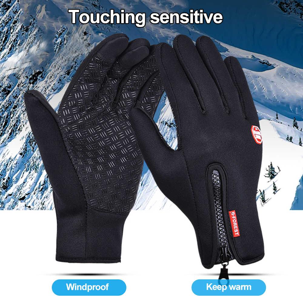 Outdoor rękawice wędkarskie zimowe ciepłe rękawiczki antypoślizgowy ekran dotykowy rękawice do wędkowania Sport Bike Riding