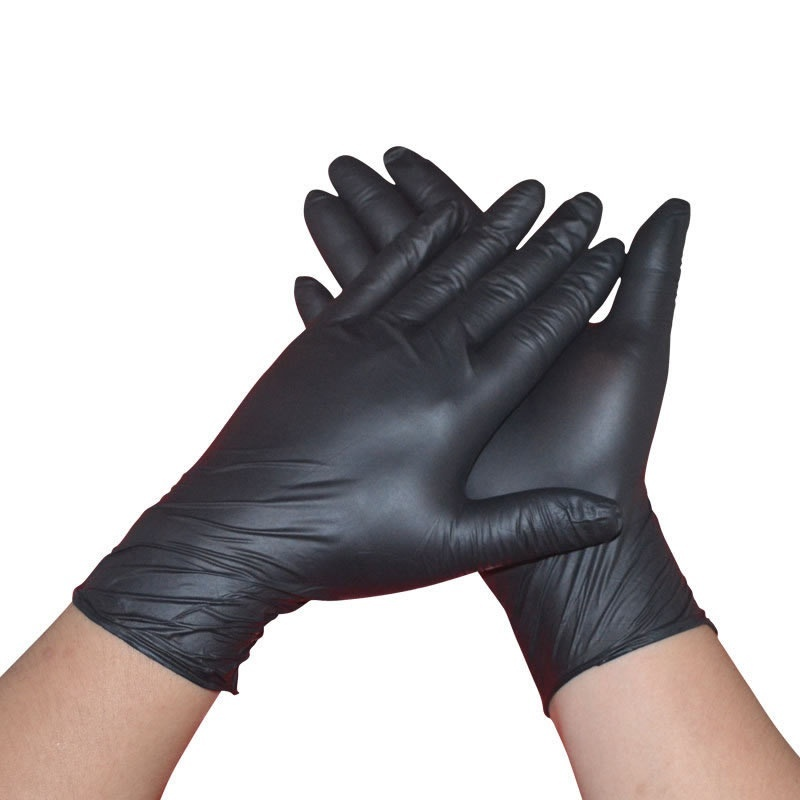 20PC S/M/L/XL Hand Disposable Soft Black Latex Gloves Dental Protective Nitrile Sterile Permanent Accessories---12 Hour Ship