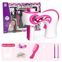 Elektryczne automatyczne pasmo włosów er DIY stylowe plecionki narzędzie do układania włosów Twist Braider maszyna pasmo włosów splot Roller zabawki dla dziewczyny tanie tanio CN (pochodzenie) Plastic 40X30X2 cm Oplatarce Hair Braider Automatic Hair Braider Kit DIY Hairstyle Twist Braiding 400 X 310 X 20mm 15 75 X 12 2 X 0 79