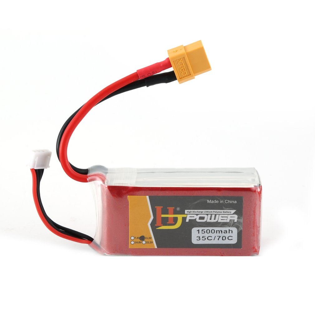 4S RC <font><b>Lipo</b></font> <font><b>Battery</b></font> <font><b>11.1V</b></font> 850mAh 1300mAh 1500mAh <font><b>2200mAh</b></font> 2600mAh 30C 35C 45C 120C For RC Airplane Helicopter Quadcopter Car Boat image