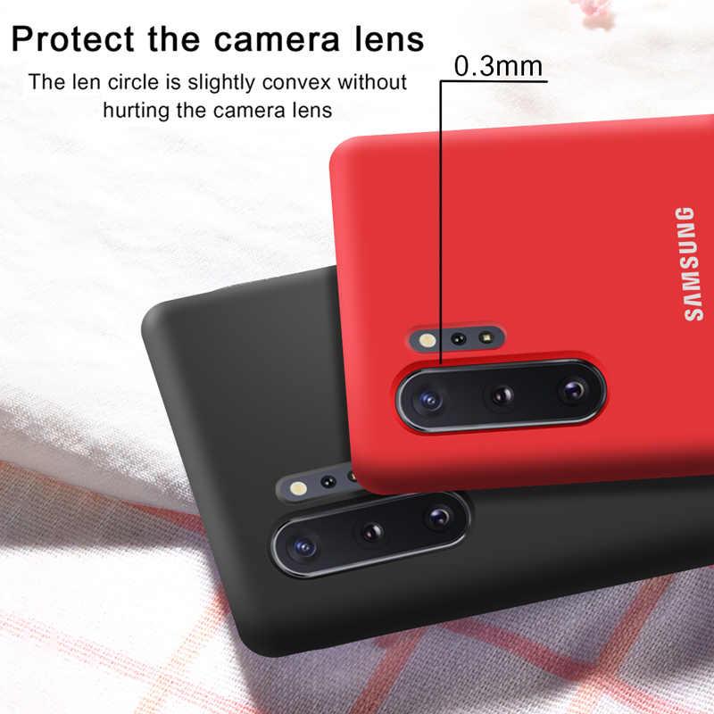 Чехол для samsung Note 10 Plus, оригинальный Официальный чехол для samsung Galaxy S8 S9 S10 S10e Note 8 9 10 Plus 5G Pro, мягкий жидкий силиконовый чехол-накладка