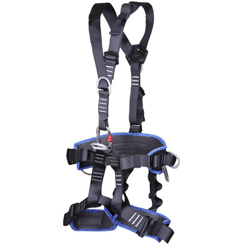 ABUO-Full Body Climbing Harness Belt Adjustable Harness Security Seat Belt Mountaineering Rescue Protective Belt
