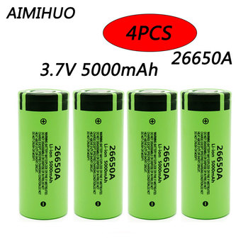 4pcs 26650 3.7v 5000mah Rechargeable Battery For Panasonic 26650A 50A Li-ion Battery For LED Flashlight Torch Accumulator 26650 image