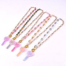Doce doce chave pingente colar para mulher ouro estética hagylic corrente no pescoço vintage bonita menina colares femme jewelery
