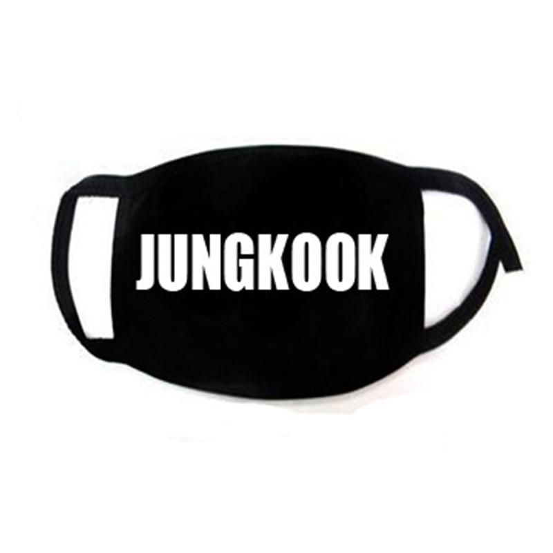 K-POP Bangtan Boys JIMIN V RAPMONSTER JIN JUNGKOOK SUGA J-HOPE Same Korean Style ARMY Women Men Black Face Masks Dust Proof Warm