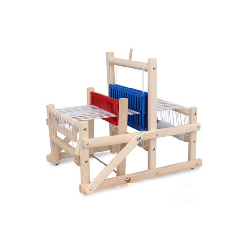 Wooden Hand Knitting Machine Kids Weaving Loom Kit For Beginners Children