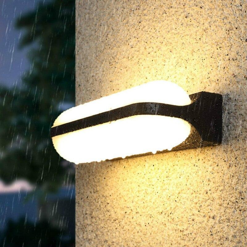 New Nordic Modern Minimalist Outdoor Wall Lamp Villa Door Front Terrace Doors Balcony Indoor and Outdoor Waterproof LED Lights