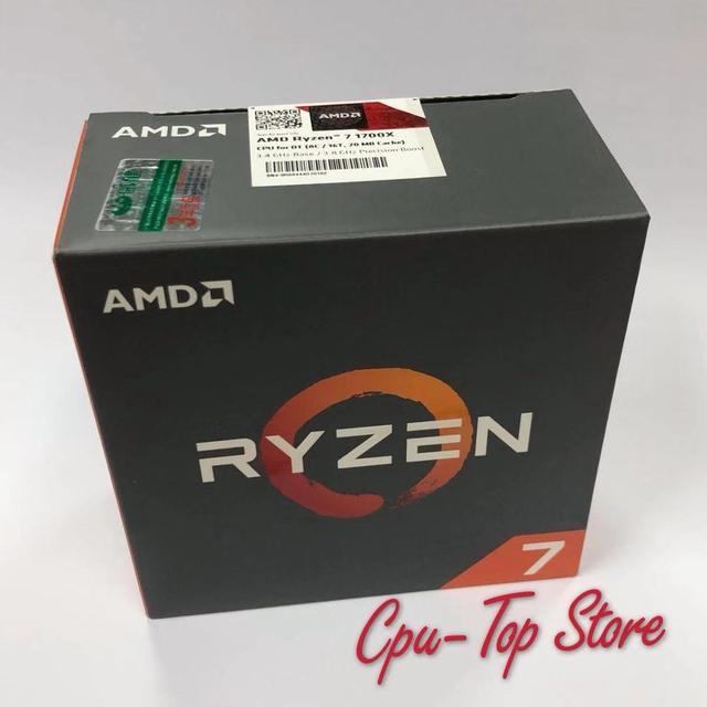 New Original BOX AMD Ryzen 7 1700X R7 1700X 3.4 GHz Eight Core CPU Processor YD170XBCM88AE Socket AM4 No cooler fan