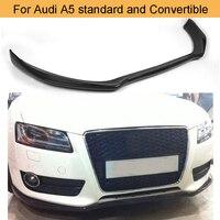 Carbon Faser Auto Vorderen Stoßfänger Lip Spoiler Diffusor für Audi A5 Standard und Cabrio 2012-2016 Nicht Sline Schwarz FRP Front Lip