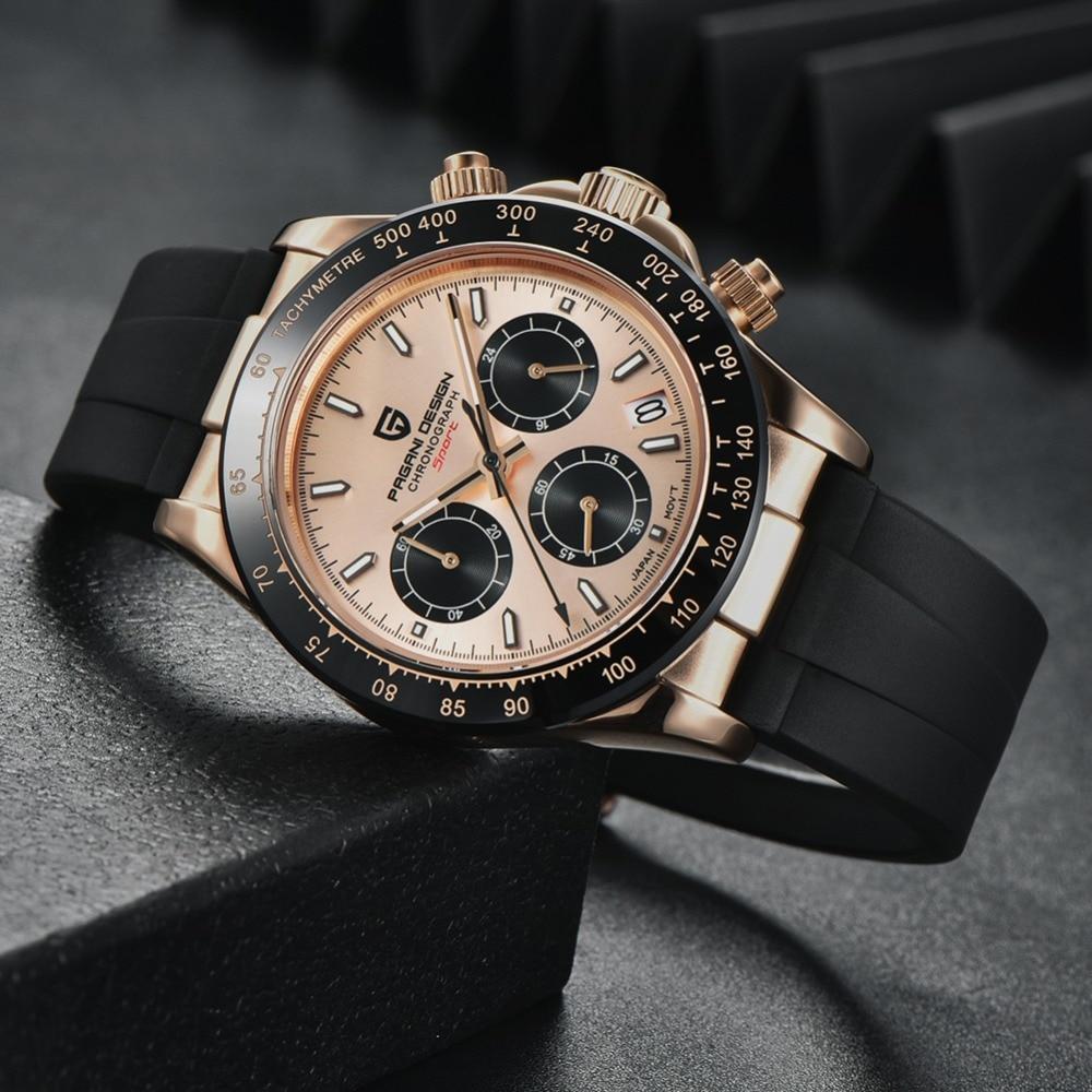 2020 New PAGANI DESIGN Mens Quartz Watches Automatic Date Luxury Gold Wristwatch Men Waterproof Chronograph Japan seiko VK63 Clock man dropshipping (60)