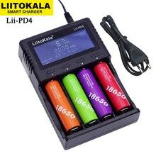 LiitoKala Lii 500S PD4 S6 500 ładowarka do 3.7V 18650 26650 21700 1.2V ni mh baterie AA AAA sprawdź pojemność baterii