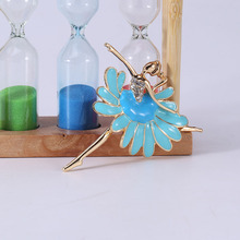 Beadsland Alloy Inlaid Rhinestone Brooch Ballerina Modeling Fashionable High-end Clothing Accessories Pin Woman Gift MM-890