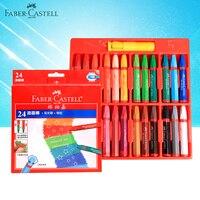 Faber Castell Oliepastels 12/24 Kleuren Set Kunstenaar Professionele Tekening Wax Kleurpotloden School Office Art Supplies