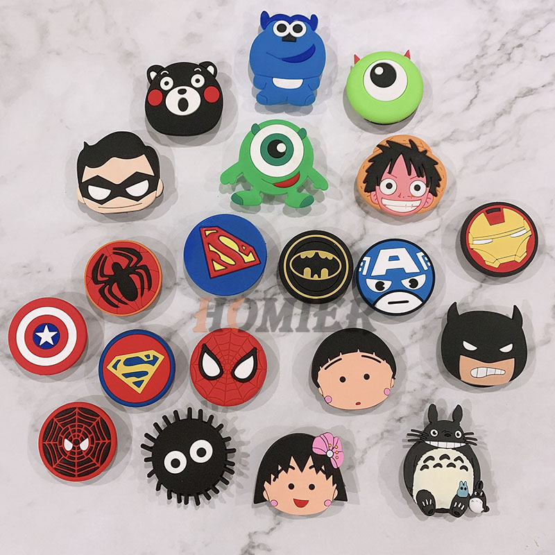 Universal Phone Stand Bracket Expanding Stand Stretch Grip Phone Holder Finger Cute Cartoon Stand For Iphone 6s 7 8 X XS MAX XR