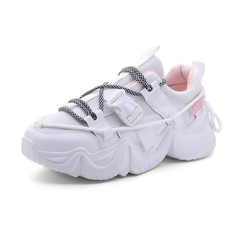 2020 zapatillas de mujer blanco negro diseñador zapatos mujer otoño verano zapatillas gruesas moda papá zapatos señoras plataforma calzado SANDALIAS ARMONIAS PLATAFORMA