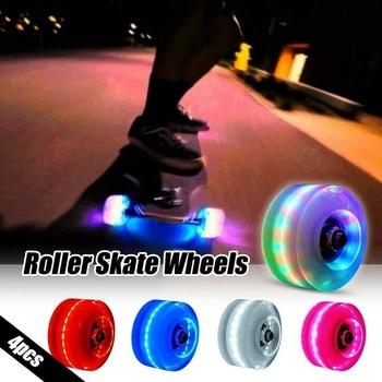 4 Pcs/Set Roller Skate Wheels Led Sliding Skating Luminous Light Up Quad Roller Skateboard Skates Accessories