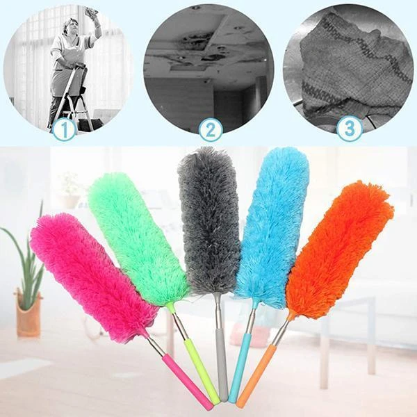 Retractable Soft Cleaning Microfiber Duster Brush for Car Trunk Motorcycle Bike Car Tire Engine Washing Tool Detailing Cleaner 1