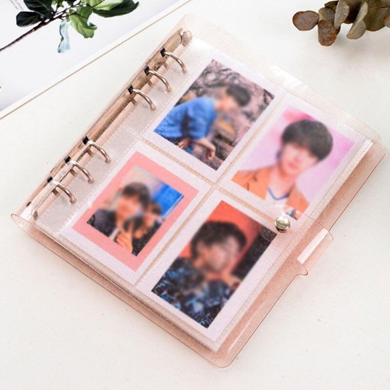 100 карманы маленький фотоальбом 3/5 дюймов дома картины Чехол для хранения для визитной карточки книга фотоальбом карты Фотокарта Имя ID держ...
