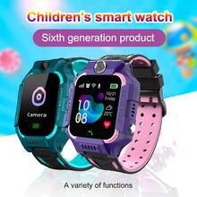 Детские Смарт часы q19 водонепроницаемые с функцией gps поиска