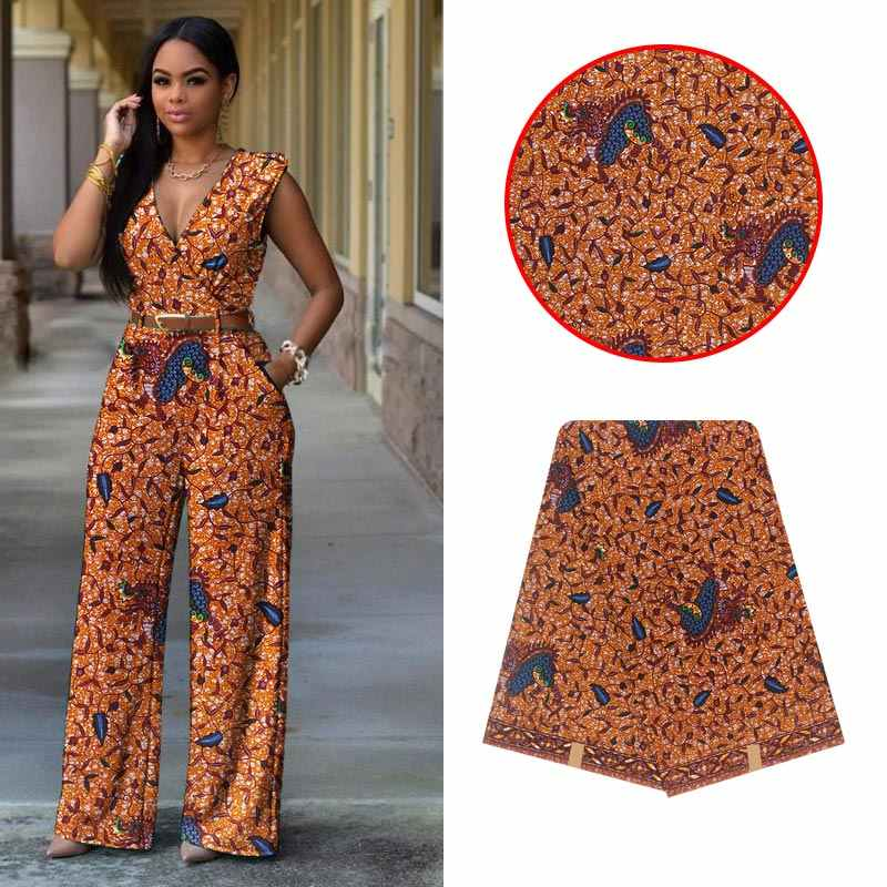 2020 Mode Afrikaanse Ankara Pagne Wax Print Stof Voor Afrikaanse Kleding Nederlands Echte Echte Wax Print Batik Stof 6 Yards