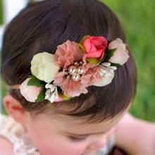 Повязка на голову для маленьких девочек; Головной убор новорожденных;