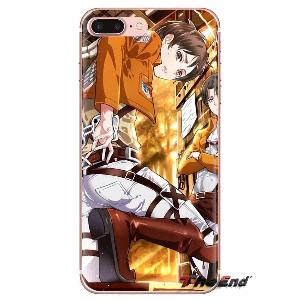 Shingeki nie kyojin miękka przezroczysta powłoka pokrowce na lg spirit Motorola Moto X4 E4 E5 G5 G5S G6 Z Z2 Z3 G2 G3 C grać Plus Mini