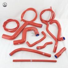 Силиконовый шланг+ вакуумный шланг комплект для V W Golf GT I MK2 1,8 8V PB код 1987-1991(12 шт) красный/синий/черный
