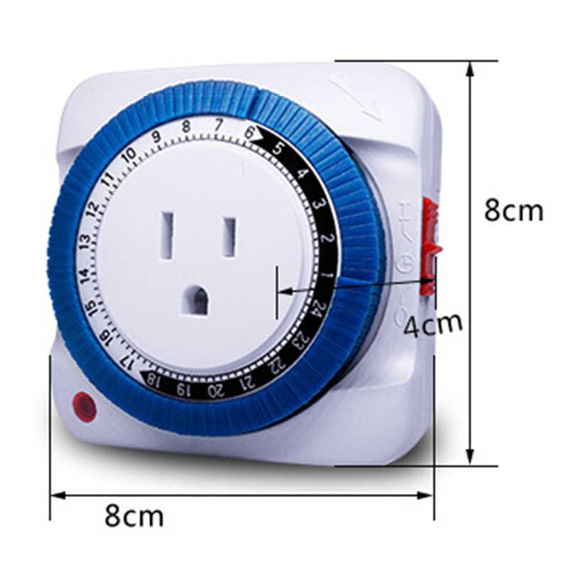 24 godzin Timer mechaniczny przełącznik gniazdo elektryczne ścienne gniazdo elektryczne zegar użytku domowego HVR88