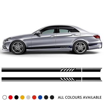 Edition 1 Car Door Side Stripes Skirt Sticker Hood Bonnet Roof Rear Body Kit Decal For Mercedes Benz E Class W212 W213 E63 AMG carbon fiber rear roof spoiler lip for mercedes benz s class w221 s63 amg sedan 4 door 2007 2012 car styling