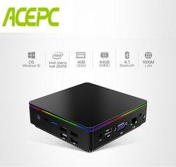 ACEPC T95P Mini PC equipa con Windows 10Quad-Core Cherry trail Z8350 RAM 4GB Rom 128GB de memoria Flash Oficina 4K Mini Pc de escritorio