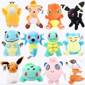 [Funny] 12pcs/lot 22cm Cartoon Eevee Family 12 style Pikachu Umbreon Plush Toys Doll Stuffed Animals Eevee Snorlax pet baby gift
