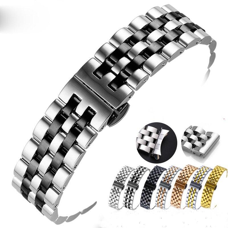 Edelstahl Uhr Band Quick Release Strap für Mido Tissot Edelstahl Strap 20 21 22 24 26mm Uhr zubehör