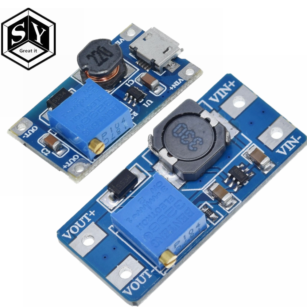 1PCS Great IT MT3608 2A Max DC-DC Step Up Power Module Booster Power Module 3-5V To 5V/9V/12V/24V