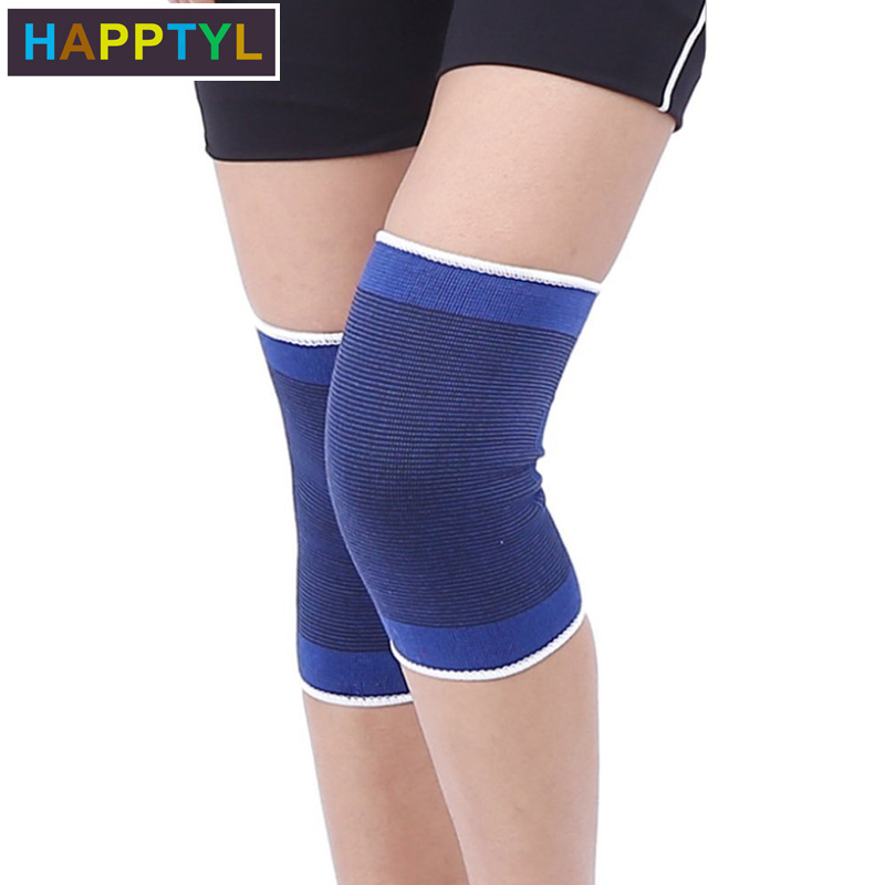 HAPPTYL 1Pair Knee Brace Support Sleeves Elastic Muscle Support Compression Sleeve Sport Arthritis Pain Relief Wrist Sleeve
