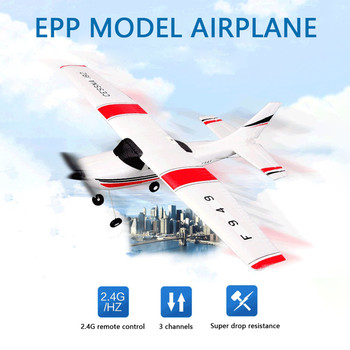 WLtoys F949 RTF Glider 3CH 2.4G RC Airplane RTF Remote Control Glider EPP Composite Material Stronger Driving Power Dropshipping