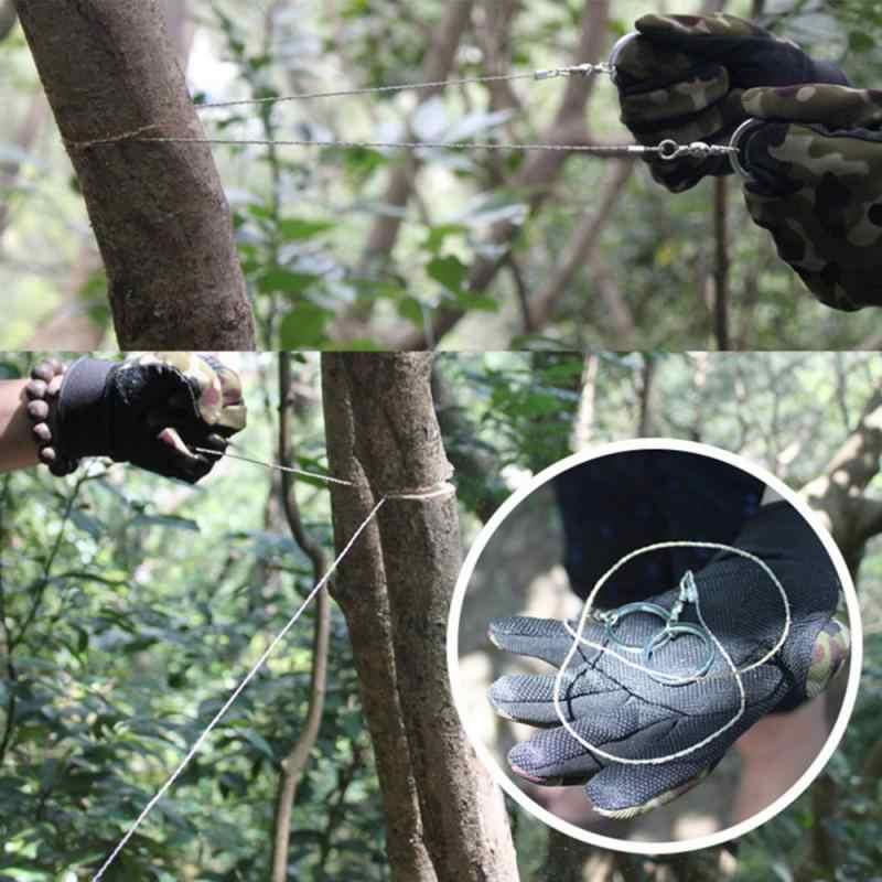 Przenośne praktyczne awaryjne przetrwanie piły ze stali nierdzewnej narzędzia turystyczne Camping piesze wycieczki zestawy stalowe z uchwytem na palec akcesoria zewnętrzne