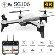 SG106 RC Drone Optische Stroom 1080P HD Dual Camera Real Time Antenne Video RC Quadcopter Vliegtuigen Positionering RTF(China)