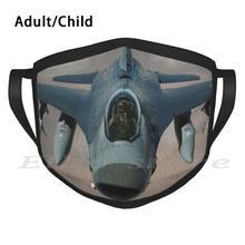F-16 файтинг Сокол смешная печать многоразовый шарф маска для лица самолет мировая война боевой перехват Usaf многофункциональная