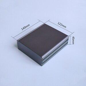 Image 3 - KYYSLB 122*45 مللي متر جميع سبائك الألومنيوم مكبر للصوت الهيكل لوحة دوائر كهربائية مربع قذيفة معدنية أداة الإسكان الطاقة تحكم الهيكل